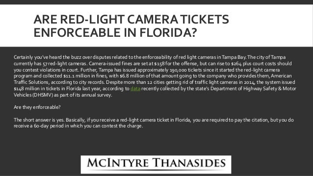3. ARE RED LIGHT CAMERATICKETS ...