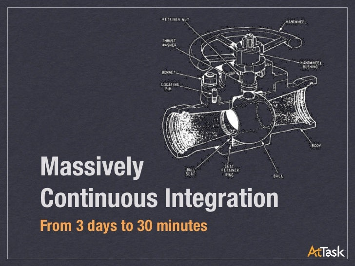 MassivelyContinuous IntegrationFrom 3 days to 30 minutes