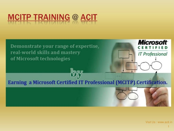 MCITP TRAINING @ ACIT                        Visit Us : www.acit.in                                         1