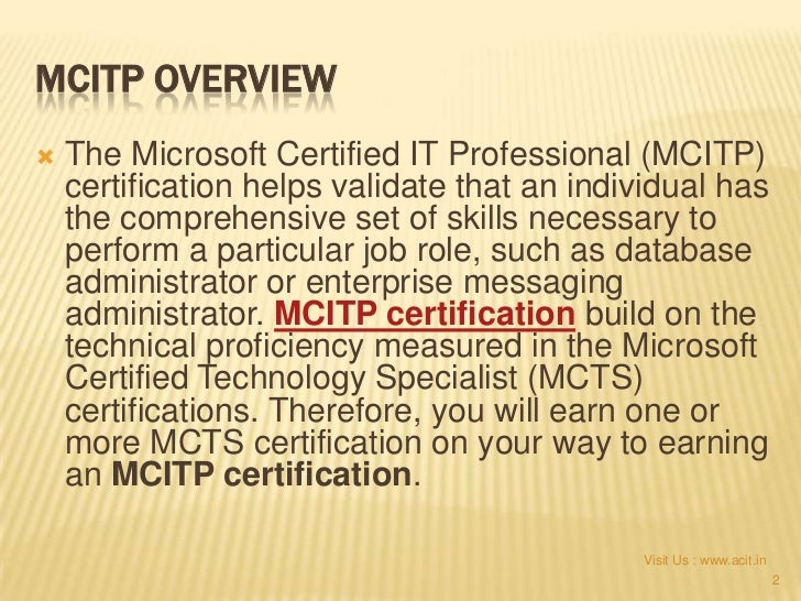 Mcitp Training Acit