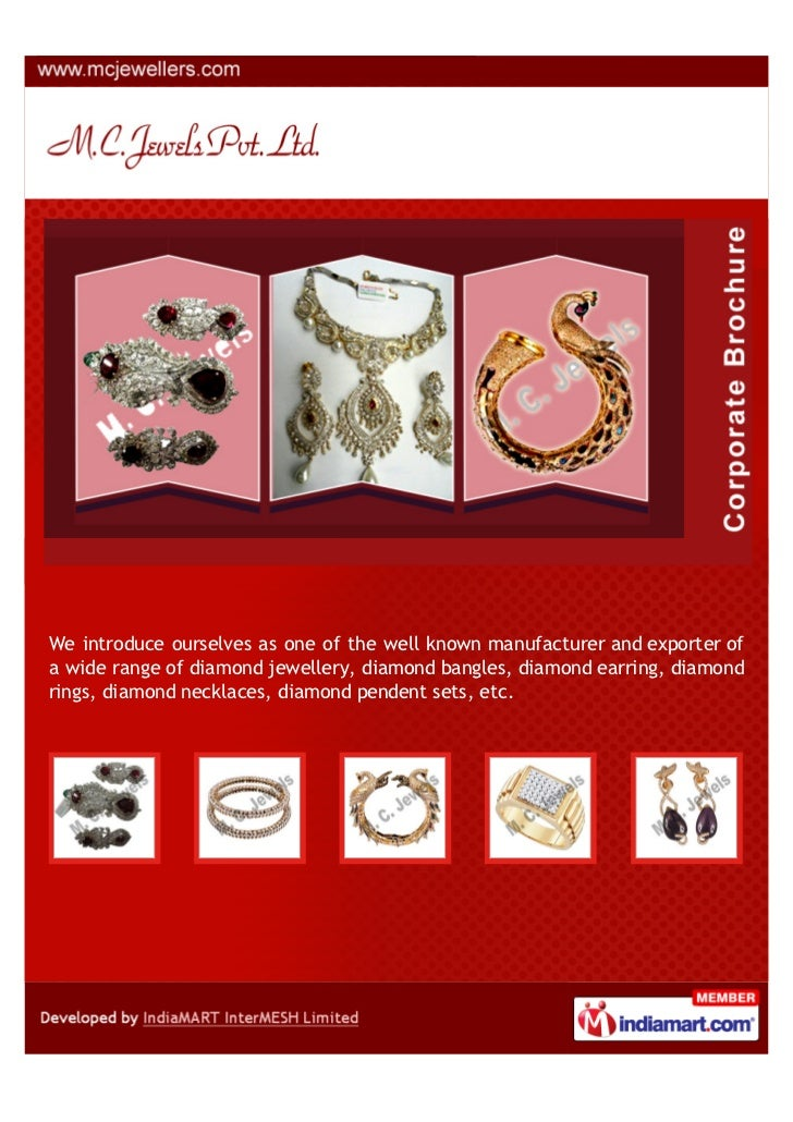We introduce ourselves as one of the well known manufacturer and exporter ofa wide range of diamond jewellery, diamond ban...