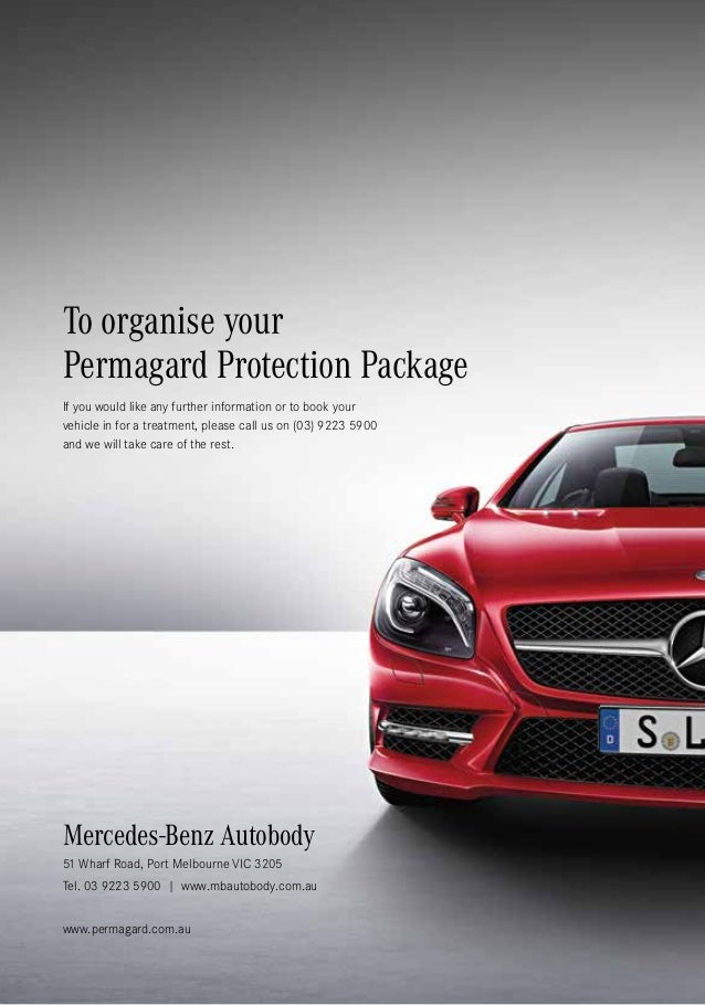 Mercedes benz autobody protection program by permagard for Mercedes benz paint protection package