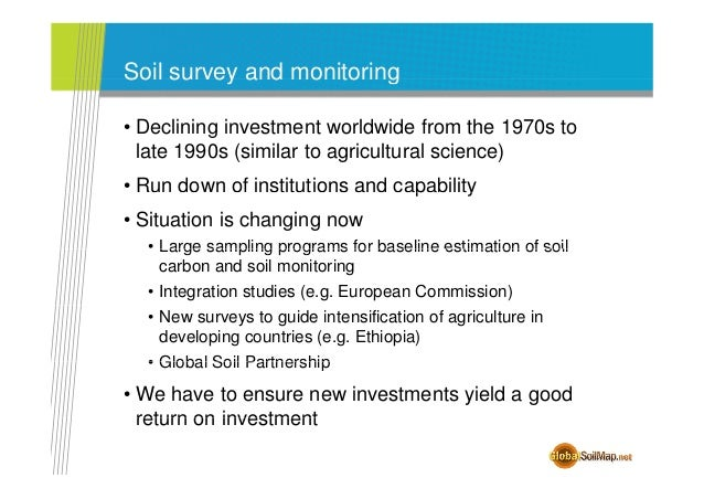 And the new global soil information for Soil information in english