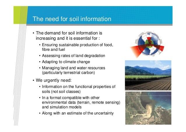And the new global soil information for Soil pictures and information