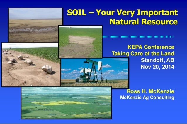 soil your very important natural resource