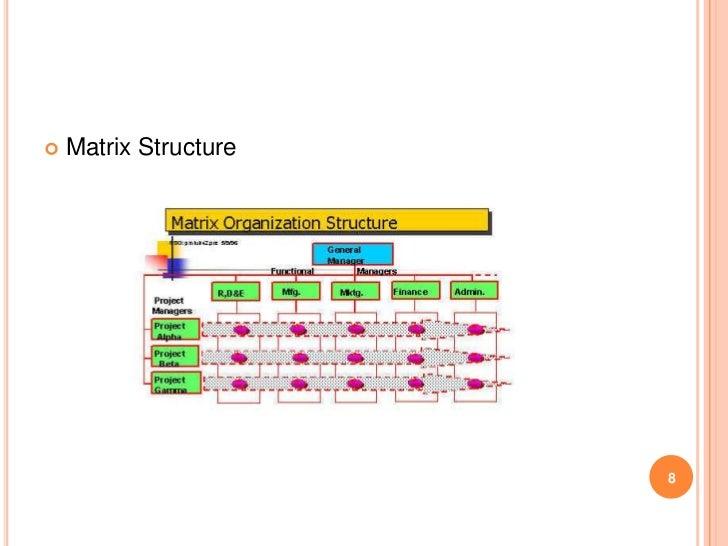   Matrix Structure                       8