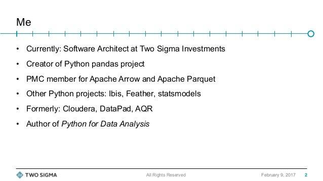 Improving Python and Spark (PySpark) Performance and Interoperability Slide 2