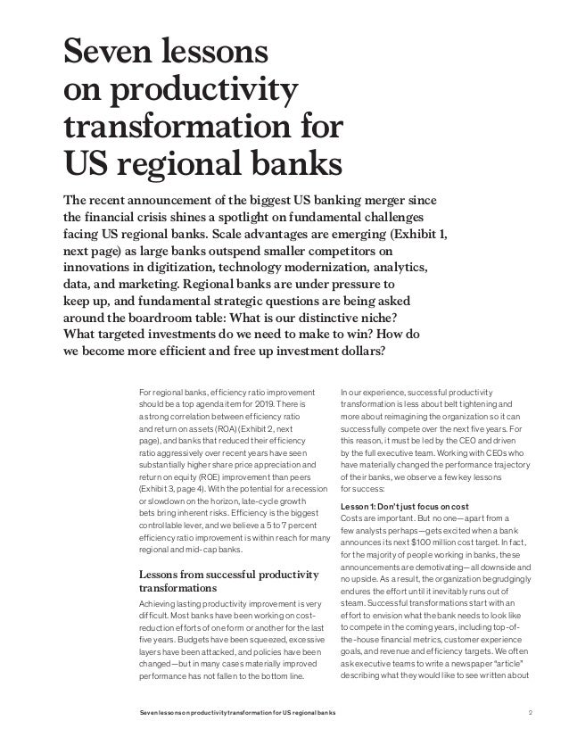 McKinsey analysis and key lessons for US regional banks Slide 2