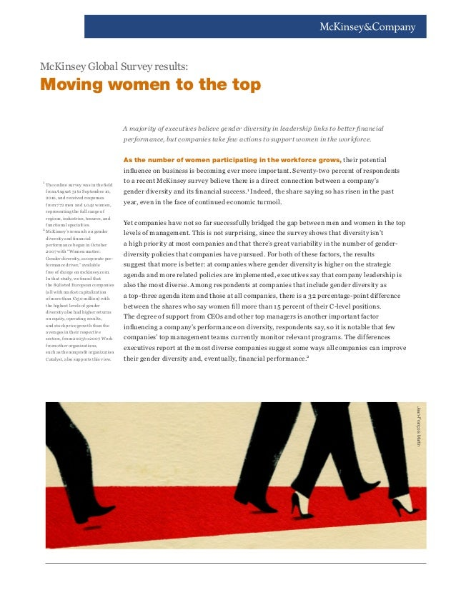 A majority of executives believe gender diversity in leadership links to better financial performance, but companies take ...