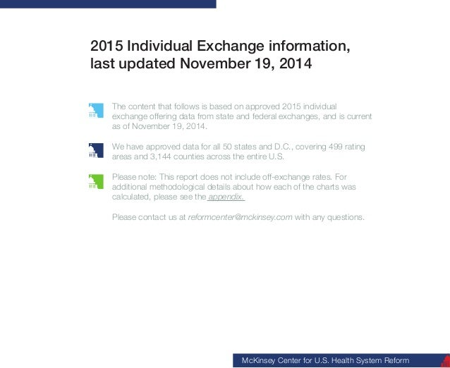2015 Individual Exchange information,  last updated November 19, 2014  The content that follows is based on approved 2015 ...