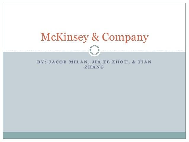 McKinsey & CompanyBY: JACOB MILAN, JIA ZE ZHOU, & TIAN              ZHANG