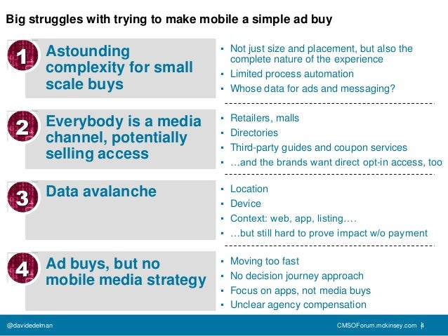 Big struggles with trying to make mobile a simple ad buy  1       Astounding                ▪ Not just size and placement,...