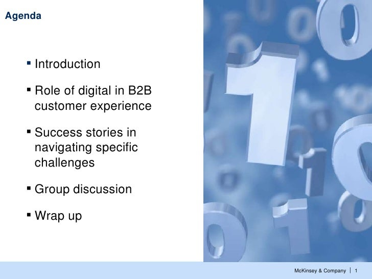 Agenda   ▪ Introduction   ▪ Role of digital in B2B    customer experience   ▪ Success stories in    navigating specific   ...
