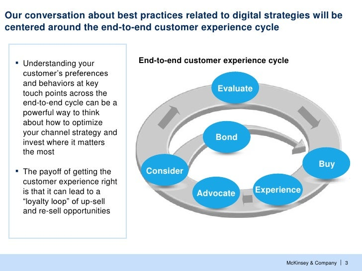 Our conversation about best practices related to digital strategies will becentered around the end-to-end customer experie...