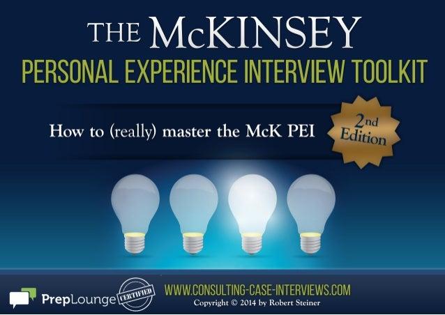Mc kinsey pei toolkit sample chapters