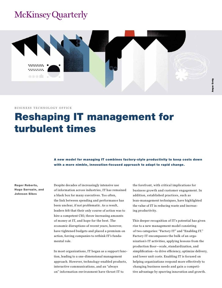 Angus Greigbusi n e ss t ech nol ogy of f iceReshaping IT management forturbulent times                       A new model ...