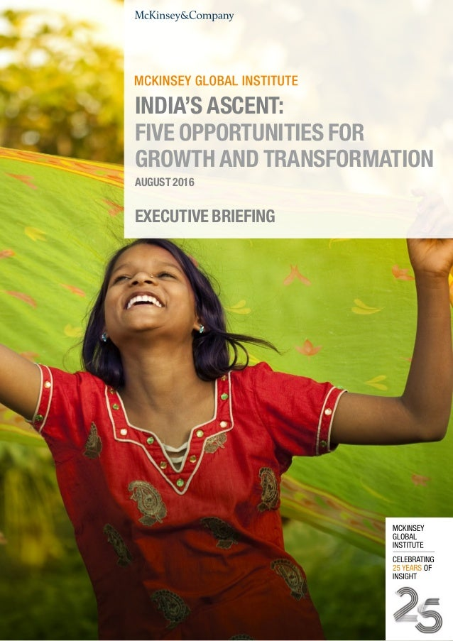 Mckinsey report on India's growth opportunities