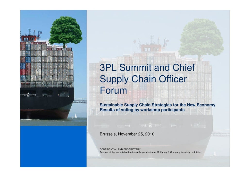 3PL Summit and ChiefSupply Chain OfficerForumSustainable Supply Chain Strategies for the New EconomyResults of voting by w...
