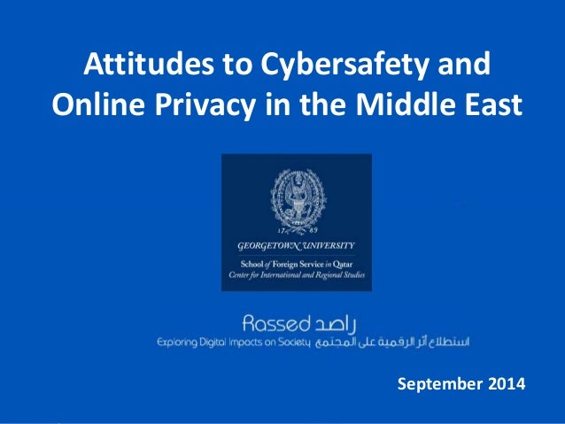 Attitudes to Cybersafety and  Online Privacy in the Middle East  September 2014