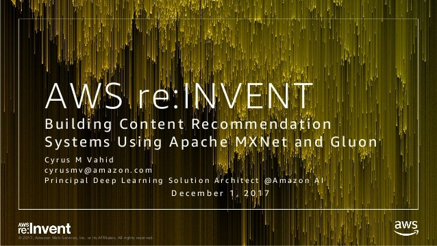 Building Content Recommendation Systems Using Apache MXNet