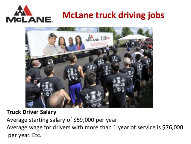 McLane truck driving jobs