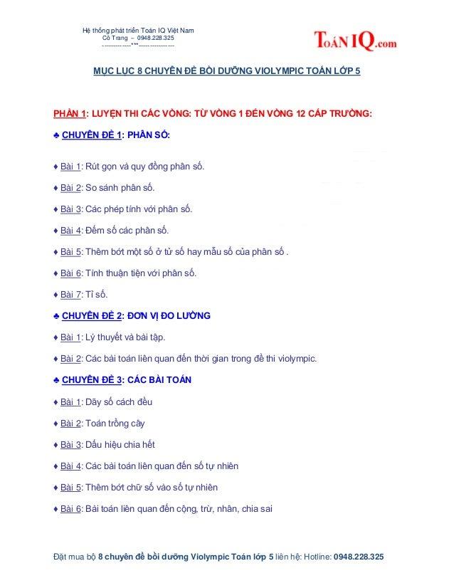 Hệ thống phát triển Toán IQ Việt Nam Cô Trang – 0948.228.325 -------------***---------------- Đặt mua bộ 8 chuyên đề bồi d...