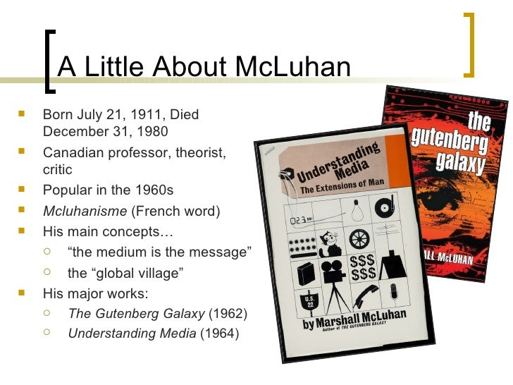 marshall mcluhans theory essay Ecology review marshall mcluhan marshaling mcluhan for media theory marshall mcluhan essay the rise fall and rise of marshall mcluhan criticism of.