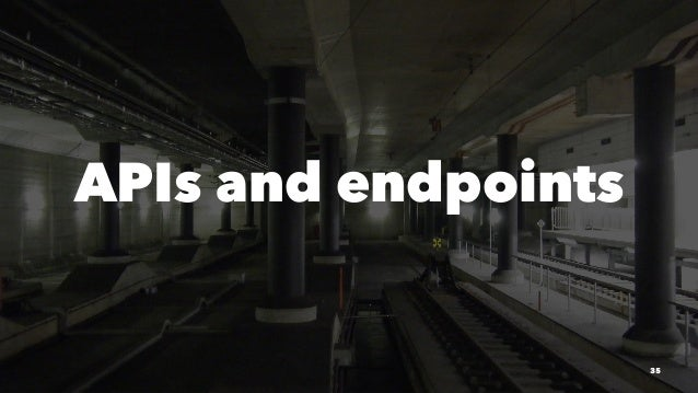 APIs and endpoints 35