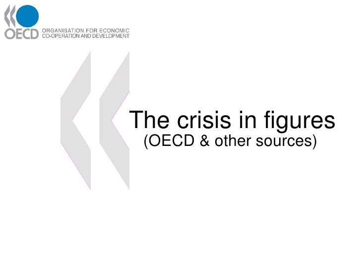 The crisis in figures  (OECD & other sources)