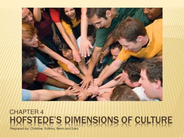 HOFSTEDE'S DIMENSIONS OF CULTURE CHAPTER 4 Prepared by: Christine, Fatima, Remi and Sara