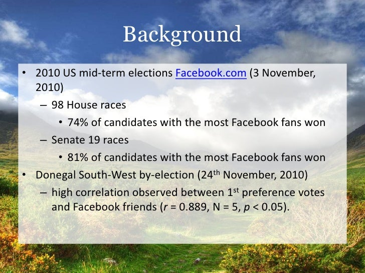 Mc Mahon, C. (2011). Social media usage by candidates in the 2011 Irish General Election Slide 2
