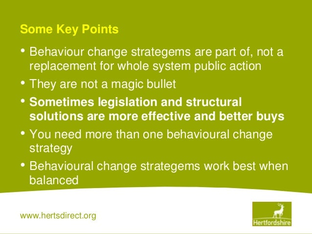 Behaviour Change As Part Of A Public Health Strategy