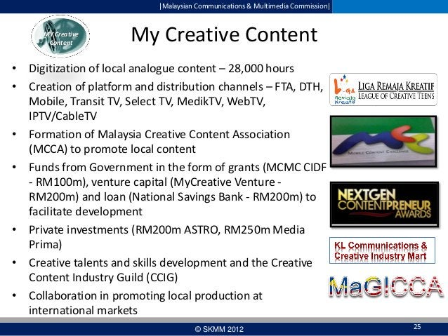  Malaysian Communications & Multimedia Commission   MY Creative Content  My Creative Content  • Digitization of local anal...