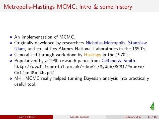 Metropolis-Hastings MCMC Short Tutorial
