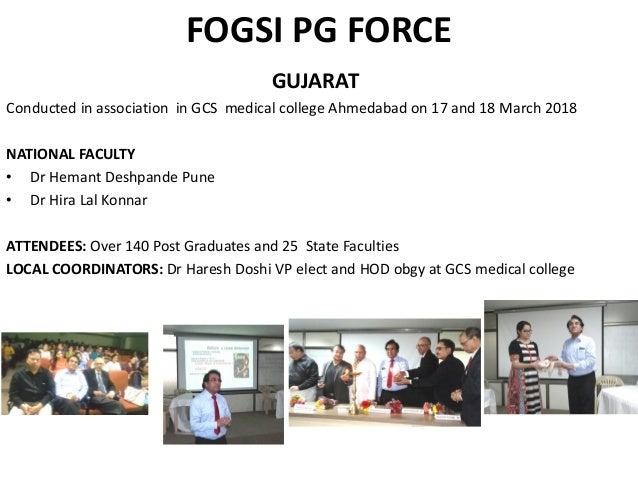FOGSI President MCM Report 2018