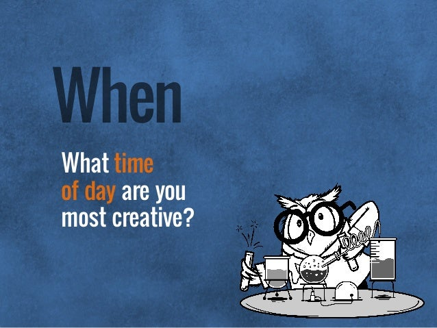 What time of day are you most creative? When