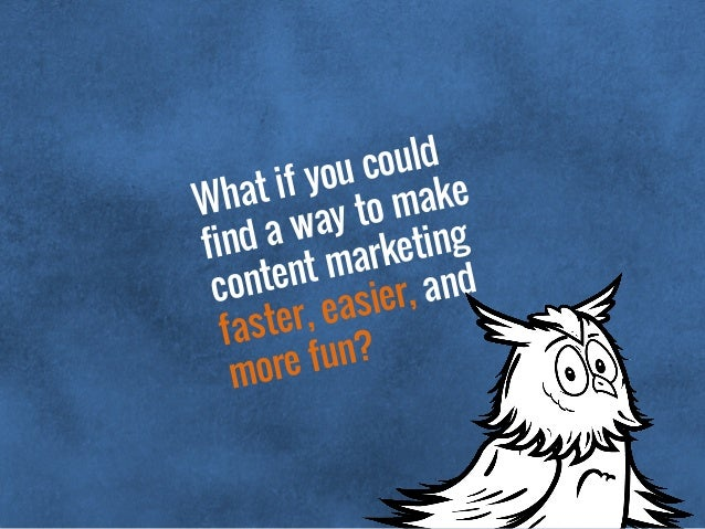 What if you could find a way to make content marketing faster, easier, and more fun?