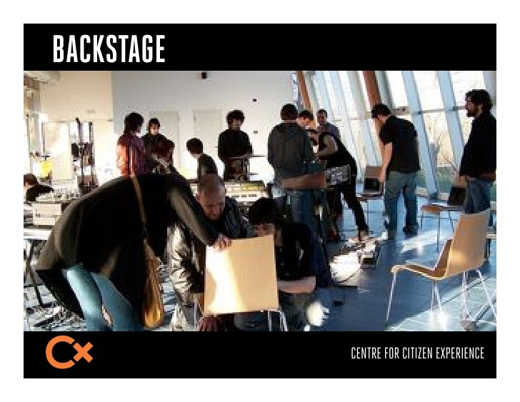 BACKSTAGE            CENTRE FOR CITIZEN EXPERIENCE