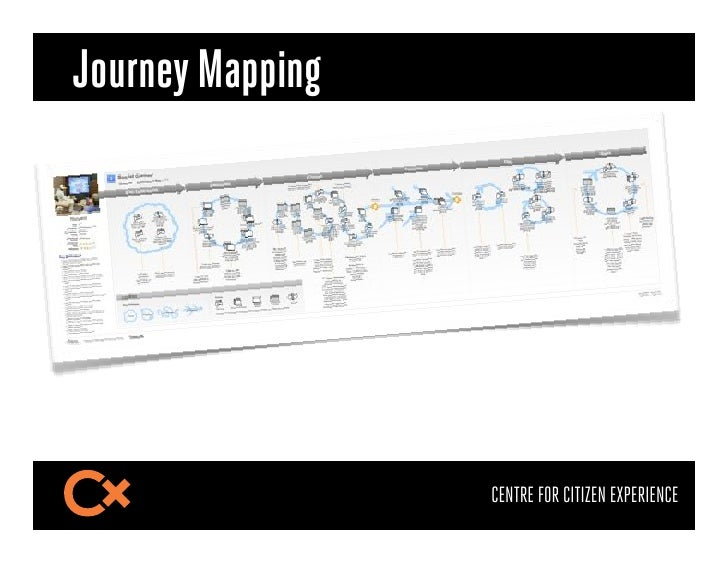 Journey Mapping                  CENTRE FOR CITIZEN EXPERIENCE