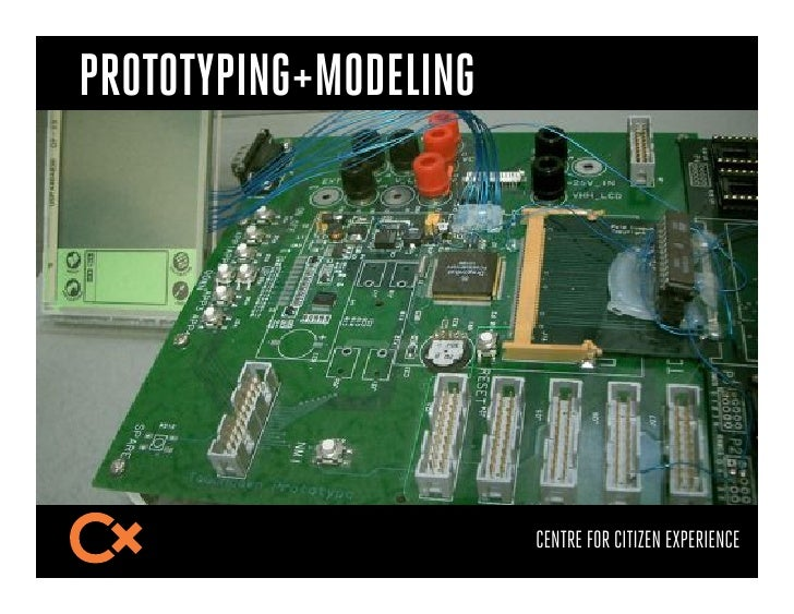 PROTOTYPING+MODELING                       CENTRE FOR CITIZEN EXPERIENCE