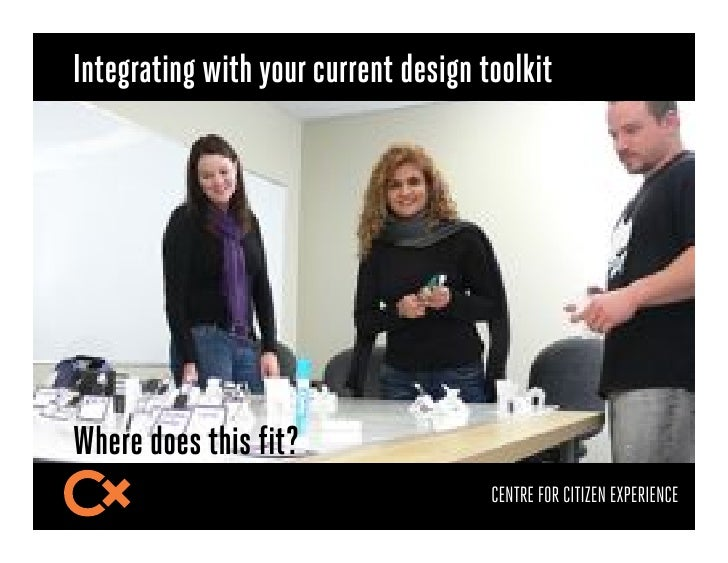 Integrating with your current design toolkitWhere does this fit?                                      CENTRE FOR CITIZEN E...