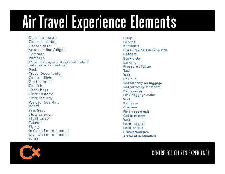 """Air Travel Experience Elements•3""""&)J""""$1F$1;5U""""($                 Sleep•6GFF#""""$(F&57F*$                   Service•6GFF#""""..."""
