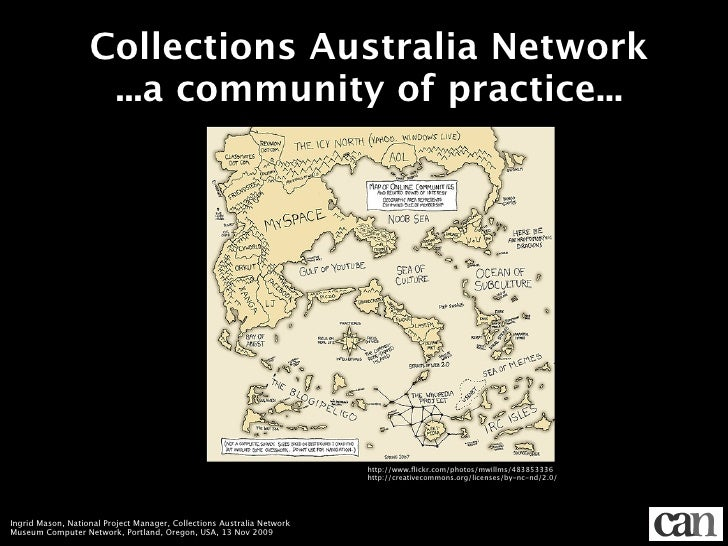 Collections Australia Network                     ...a community of practice...                                           ...