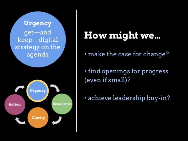 Clarity Articulate and communicate digital strategy  How might we… • decide what to include—and what to omit—in our strate...