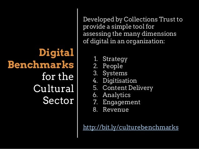 Developed by Collections Trust to provide a simple tool for assessing the many dimensions of digital in an organization:  ...