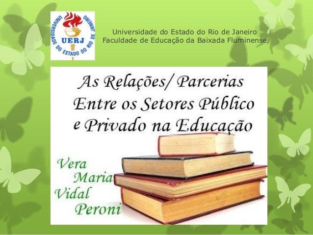 Universidade do Estado do Rio de Janeiro  Faculdade de Educação da Baixada Fluminense