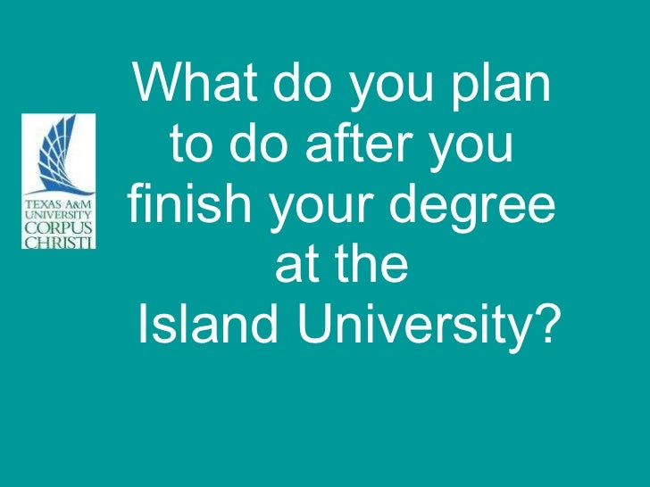 What do you plan  to do after you  finish your degree  at the  Island University?