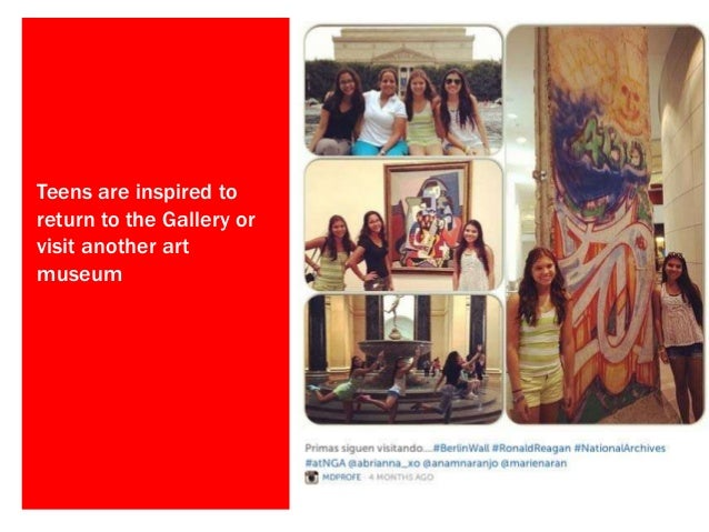 Beyond the #selfie: Connecting teens and art through social media