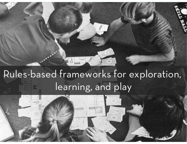 Rules-based frameworks for exploration, learning, and play