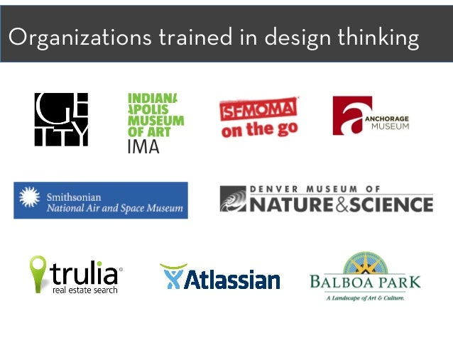 Organizations trained in design thinking
